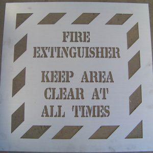 WCSM - Fire Ext Stencil