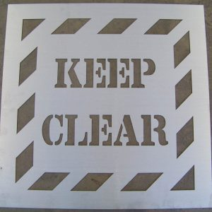 WCSM - Keep Clear Stencil