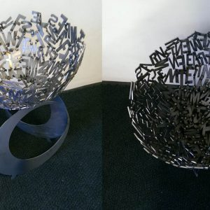 WCSM - Mild Steel Custom Letter Fire Pit
