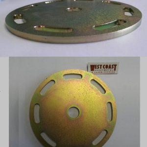 WCSM - Mild Steel Plate Laser Cut & Zinc Coated Gold