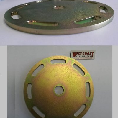 WCSM - Mild Steel Plate Laser Cut & Zinc Coated Gold